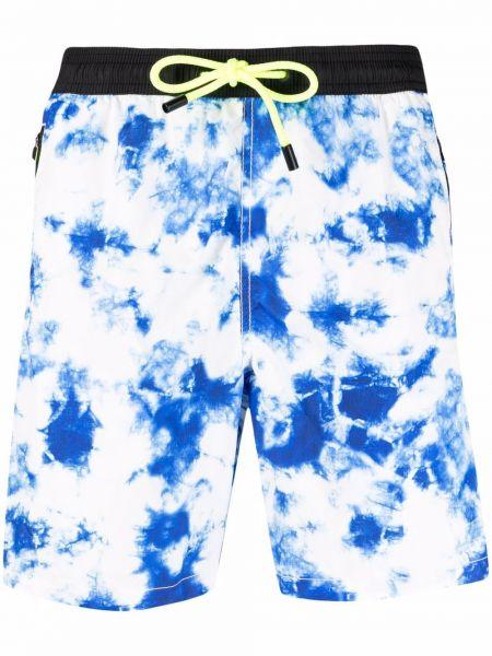 Niebieskie szorty z printem Mc2 Saint Barth