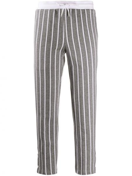 Спортивные брюки укороченные в полоску Thom Browne