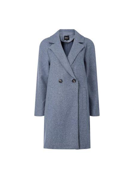 Niebieski płaszcz z raglanowymi rękawami Only