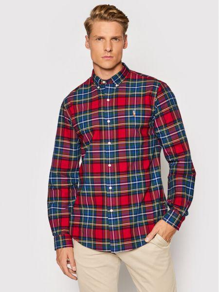 Koszula slim - czerwona Polo Ralph Lauren