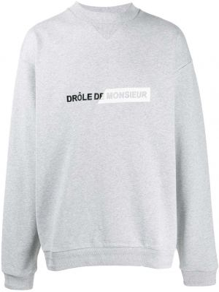 Prążkowany sweter bawełniany z długimi rękawami Drole De Monsieur