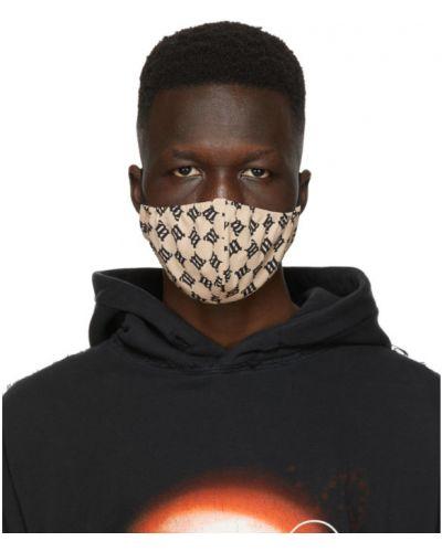 Трикотажная бежевая маска для лица стрейч Misbhv