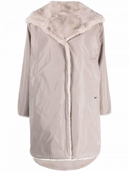 Пальто с капюшоном - серое Seventy