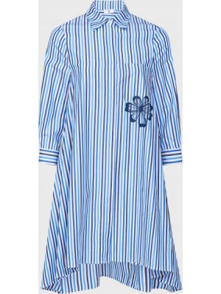 Хлопковое платье - голубое Sfizio