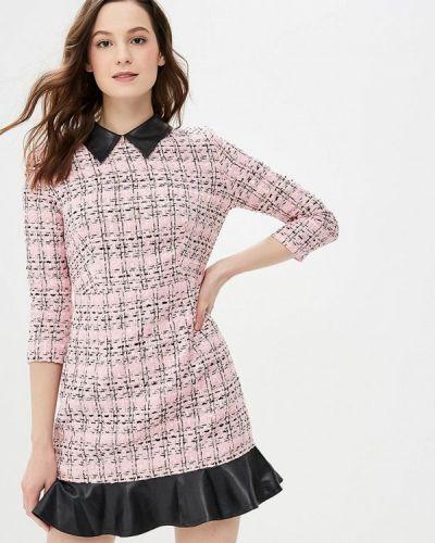 Платье розовое осеннее Gepur