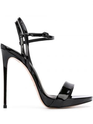 Босоножки на каблуке - черные Le Silla