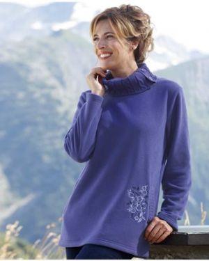 Туника с вышивкой фиолетовый Atlas For Men