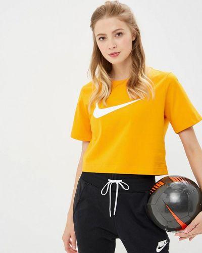 Желтое поло Nike