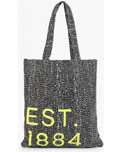 Черная сумка шоппер с камнями Marks & Spencer