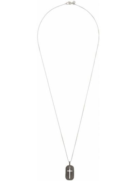 Серебряное ожерелье металлическое с подвесками с декоративной отделкой Tateossian