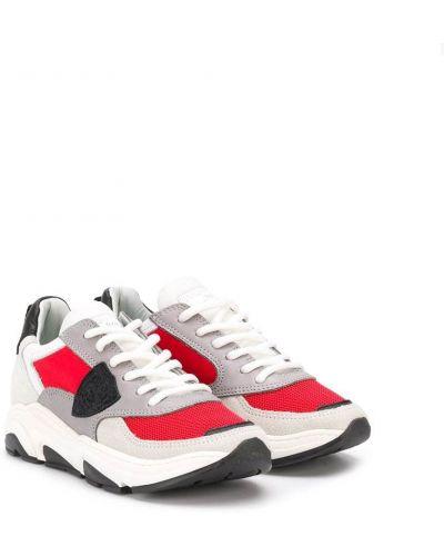 Кожаные белые кроссовки на каблуке Philippe Model Kids