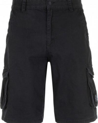 Шорты карго черные с карманами Termit
