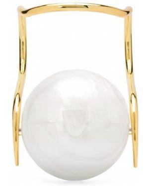 Biała złota kopertówka perły Cult Gaia