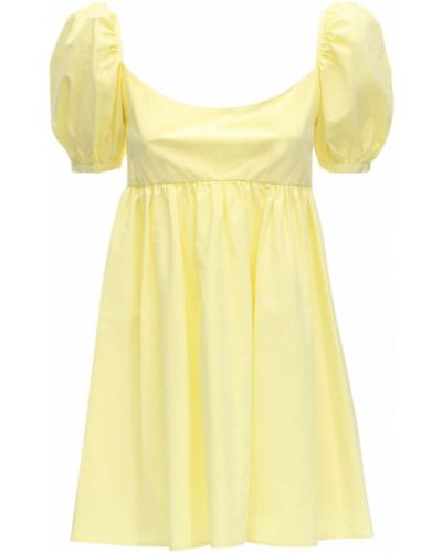 Żółta sukienka mini bawełniana Ciao Lucia