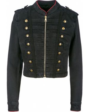 Джинсовая куртка на молнии укороченная Guess