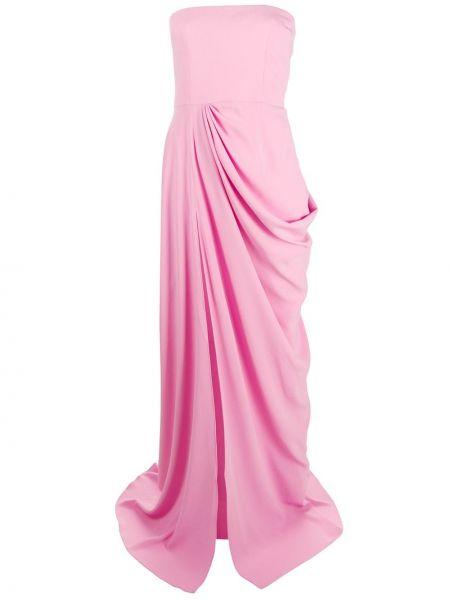 Вечернее платье на молнии со складками Alex Perry