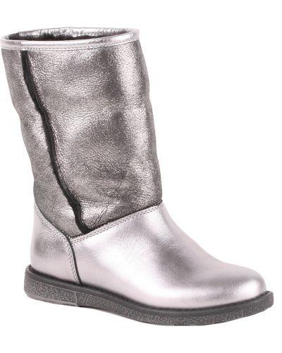 Сапоги серебряный кожаный Gallucci
