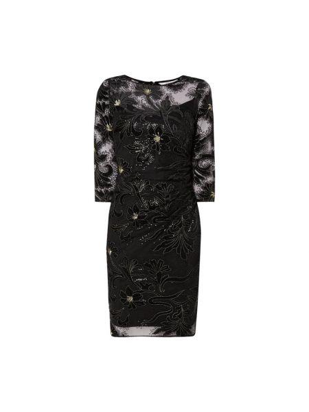 Czarna sukienka z aksamitu Coast