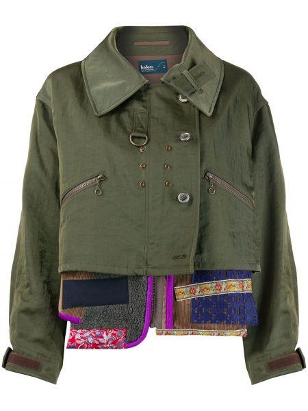 Зеленая куртка на молнии с воротником Kolor