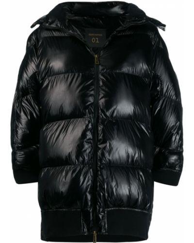 Черное длинное пальто Semicouture
