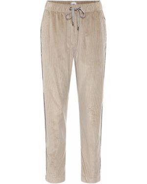Спортивные брюки вельветовые укороченные Brunello Cucinelli