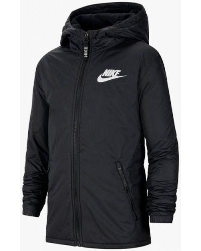 Утепленная черная куртка Nike