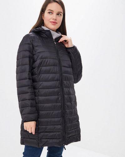 Утепленная куртка демисезонная черная Rosa Thea