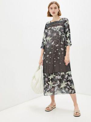 Черное повседневное платье Alexander Bogdanov