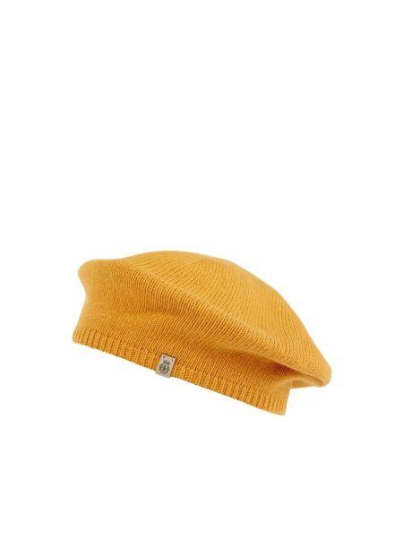 Żółty beret wełniany Roeckl