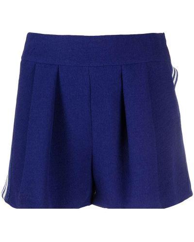 Синие шорты в полоску из вискозы Missoni