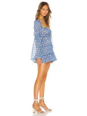 Sukienka mini elegancka - niebieska Majorelle