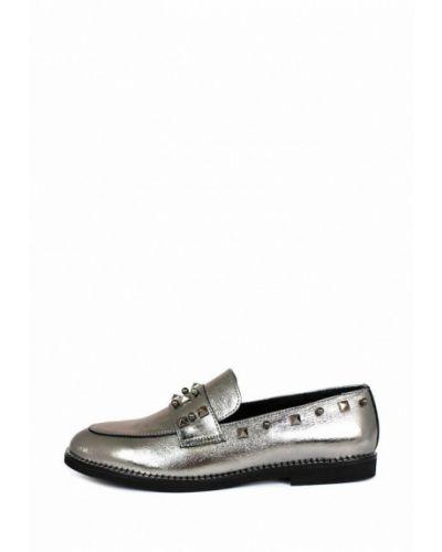 Серебряные кожаные туфли Blizzarini