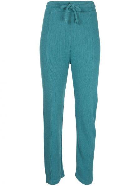 Синие прямые брюки с воротником из вискозы Wildfox