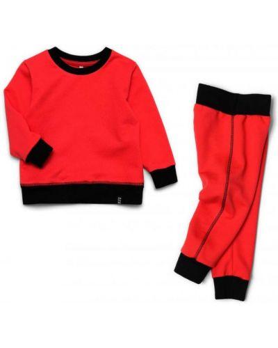 Костюмный красный костюм из футера Ardomi
