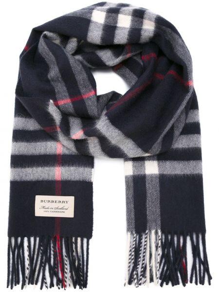 Кашемировый темно-синий шарф квадратный Burberry