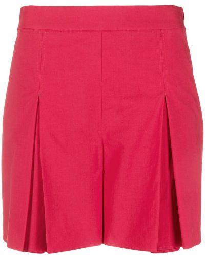 Хлопковые красные с завышенной талией шорты Boutique Moschino