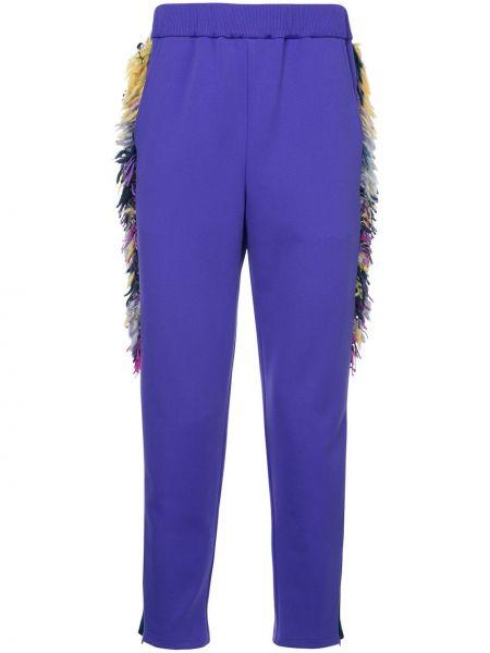 Фиолетовые брюки с бахромой Yoshiokubo