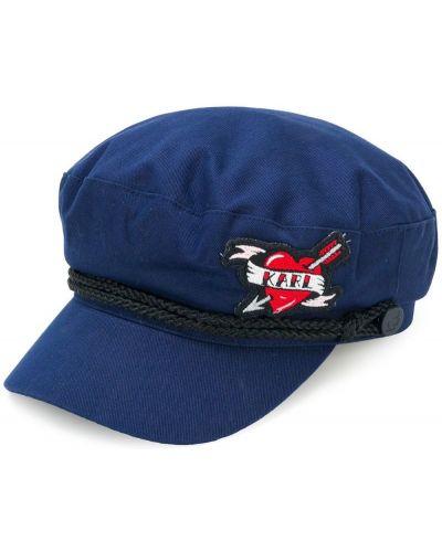 Синяя хлопковая кепка Karl Lagerfeld
