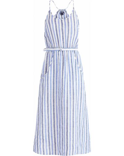 Платье с поясом пышное на тонких бретелях Woolrich