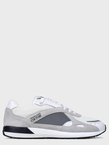 Кожаные кроссовки - белые Versace Jeans Couture