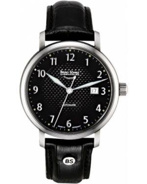 Часы механические водонепроницаемые с кожаным ремешком Bruno Sohnle