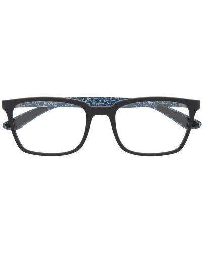 Черные очки вайфареры прозрачные металлические Ray-ban