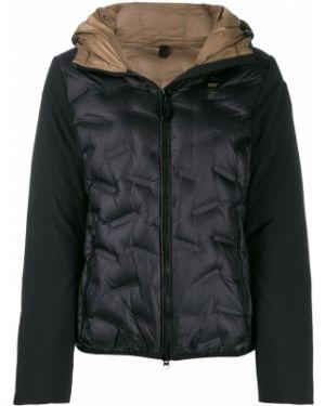 Сатиновая прямая черная стеганая куртка двусторонняя Blauer