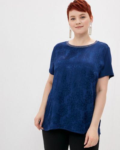 Синяя блузка с короткими рукавами Samoon By Gerry Weber