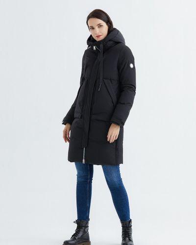 Пуховик классический - черный Snowimage