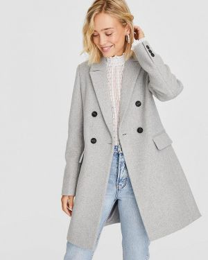 Пальто серое пальто Stradivarius