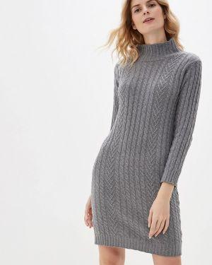 Платье серое вязаное Marks & Spencer