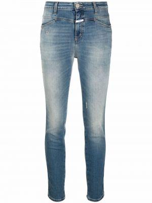 Синие хлопковые джинсы Closed