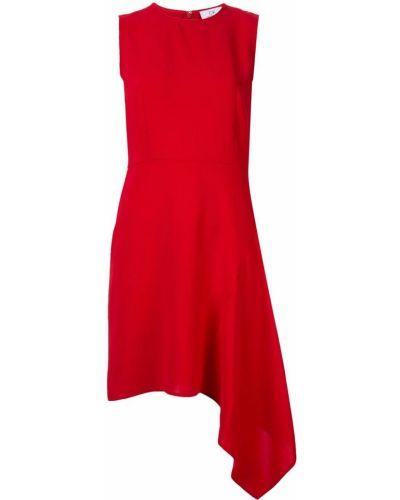Платье с оборками - красное Ck Calvin Klein