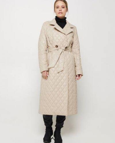 Пуховое пальто - бежевое Milhan